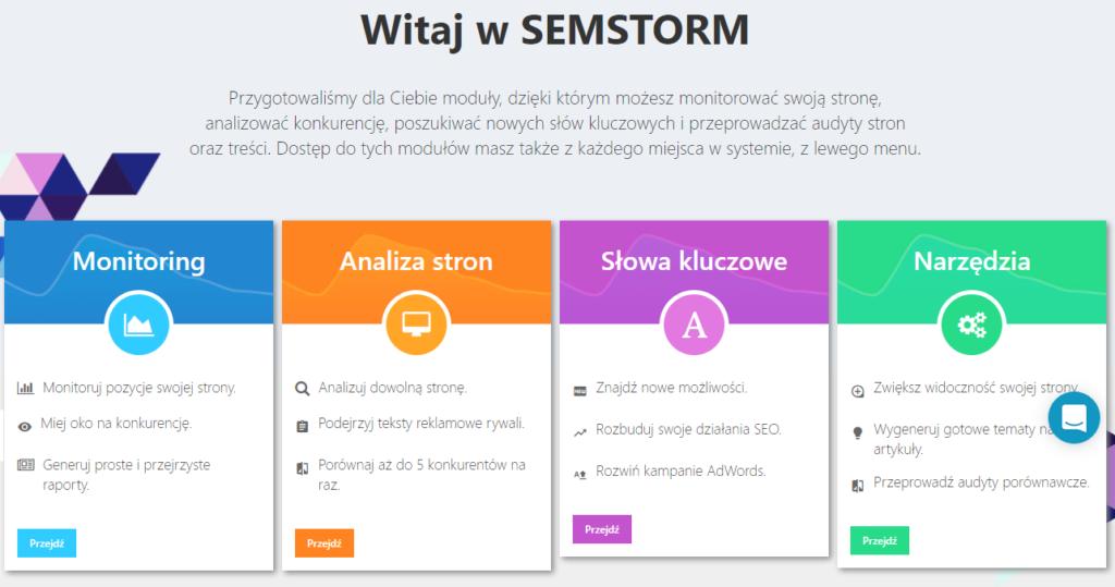 SEMSTORM to profesjonalne narzędzie wspierające efektywny marketing w wyszukiwarkach oraz działania content marketingowe.